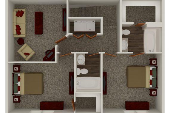 Upper Level 2-Bed Den